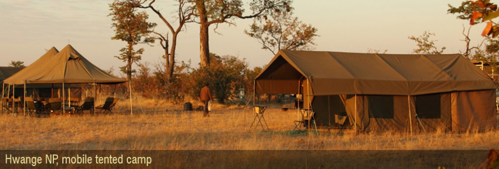 luxe mobile tented camp zimbabwe